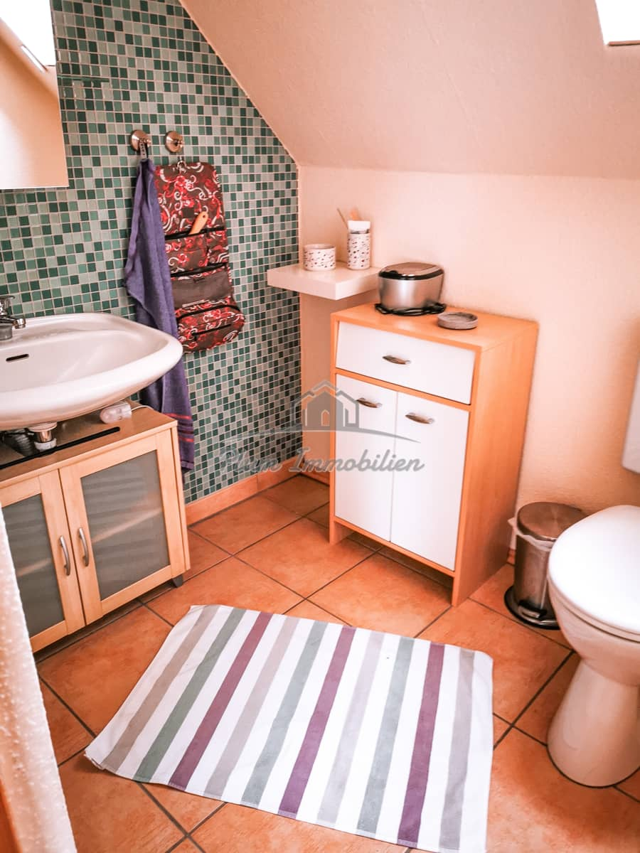 Badezimmer mit WC im Studio